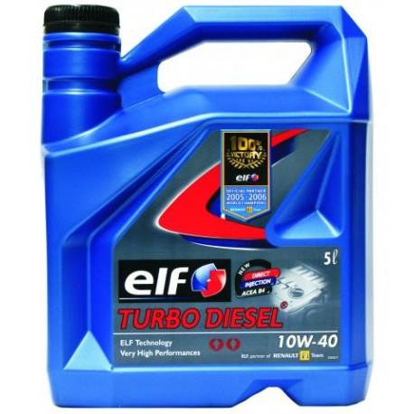 elf turbo diesel 10w 40 5l lubrifianti auto. Black Bedroom Furniture Sets. Home Design Ideas
